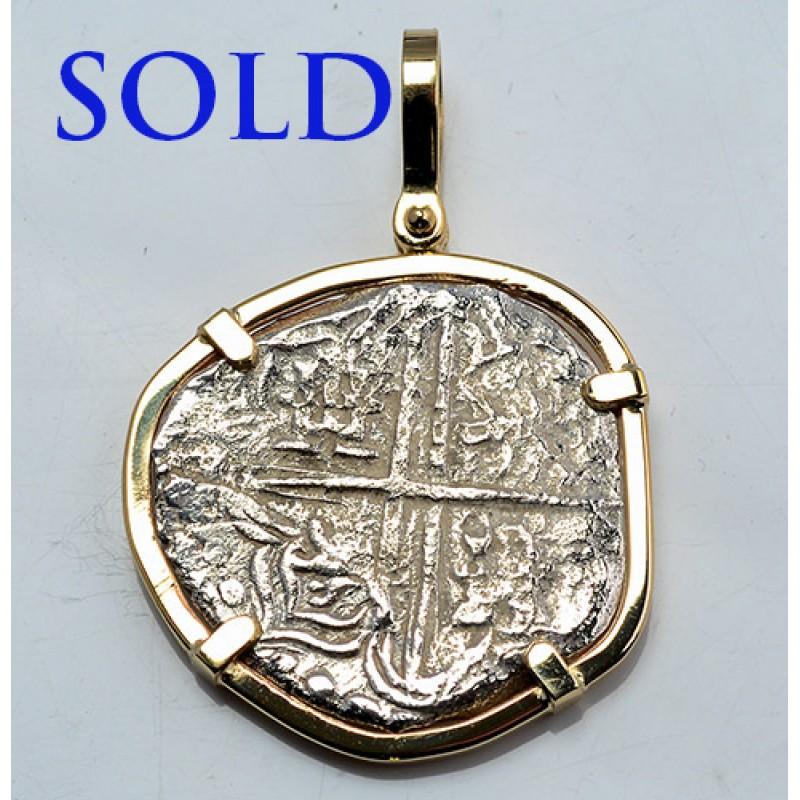 authentic atocha 4 reales grade ii treasure coin in solid