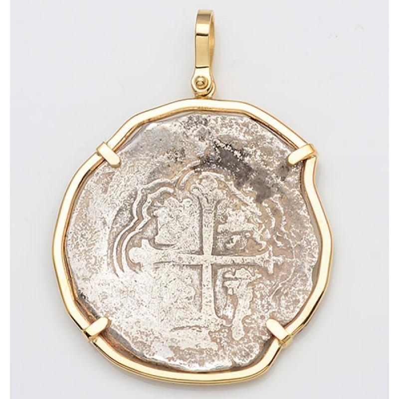 authentic atocha 8 reales grade ii treasure cob coin in