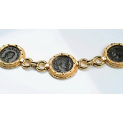 8e1bf7fd31bb0b Ancient Roman Four Coin Bracelet Constantine I & Sons in 14kt Sold Gold  circa 4th century