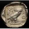 Ancient Greek Attica, Athens Owl Silver Tetradrachm Coin circa 449-413 B.C.