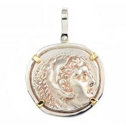 191fb87f7 Alexander the Great Silver Tetradrachm Coin Pendant