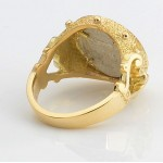 Ancient Greece Silver Horse Coin in Designer 18kt Gold Ring with Diamonds circa 450-400 B.C.