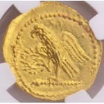 Amazing NGC MS (Mint State) Ancient Thracian or Scythian Coson Koson Gold Coin circa 44-42 B.C.