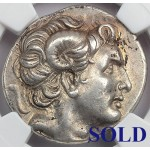Amazing High Grade (NGC AU) Authentic Ancient Greek Silver Coin PORTRAIT OF ALEXANDER THE GREAT  circa 305-281 B.C.