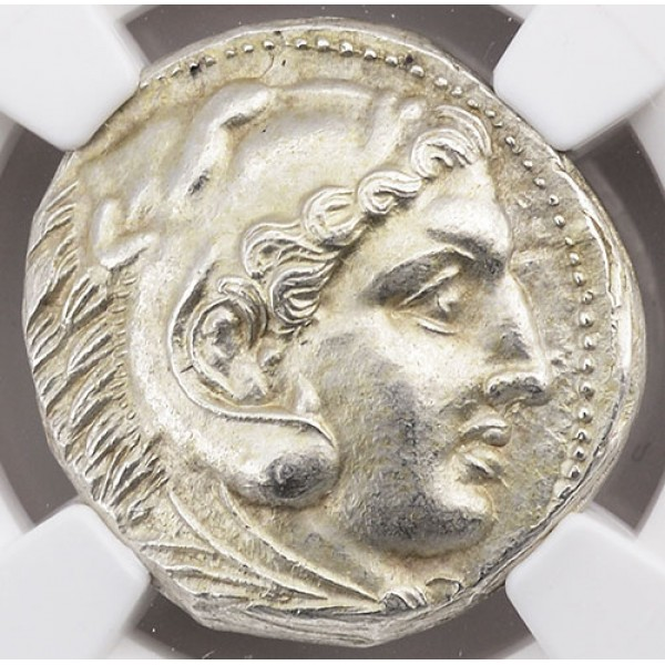 Outstanding NGC MS Ancient Macedonia Coin Alexander the Great Silver Tetradrachm Early Posthumous Issue