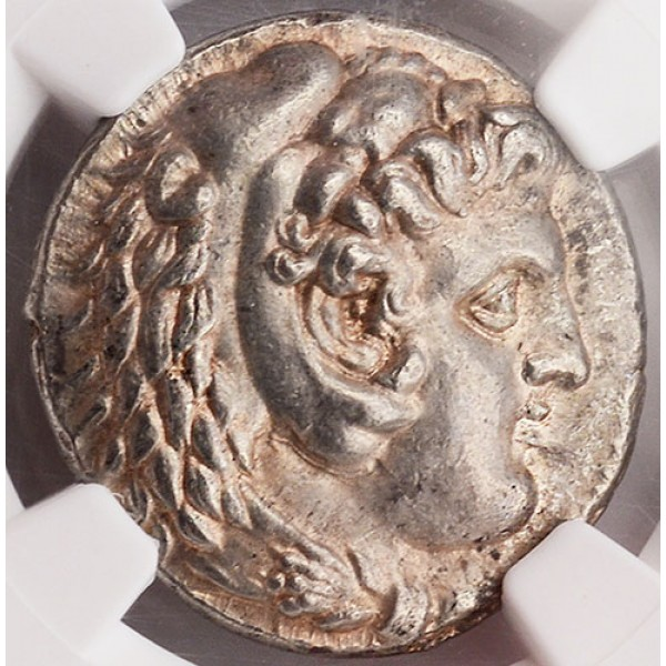 Outstanding NGC Ch. AU Ancient Macedonia Coin Alexander the Great Silver Tetradrachm 336-323 B.C.