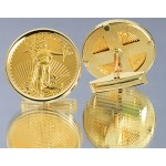 14kt Gold Cuff-Links with U.S. American eagle 1/4 oz. Gold Coins
