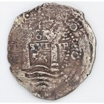 Nice 8 Reales Treasure Cob Coin from the LA CAPITINA shipwreck of 1654: Visible Date of 1653