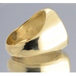 AUTHENTIC HALF REALES TREASURE COB COIN in 14kt Gold Ring size 11 circa 1600's